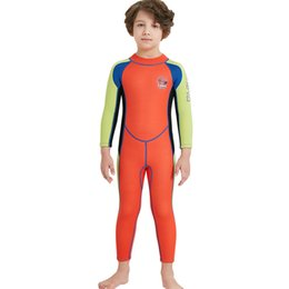 37a73b7521 Kids Diving Suit 2.5MM Neoprene Wetsuit children for boys girls Keep Warm  One-piece Long Sleeves UV protection Swimwear Hot products soft