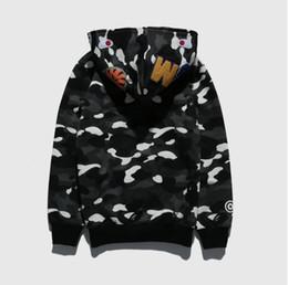 e0e99353b12e Autumn winter Fashion tide men s wear shark night light camouflage velvet  sweater skateboard men s hip hop hooded casual wear