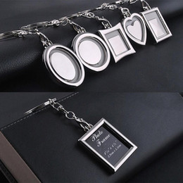 1 Piece Key Chains Transparent Clear Insert Photo Picture Frame Key Ring  Chain Keychain 1e96bebc837e