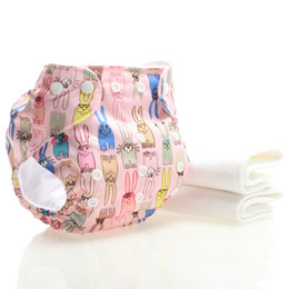 Discount christmas cloth diapers - Christmas Baby Gift 2 microfiber diapers + printed cloth pants super absorbent breathable soft environmentally friendly