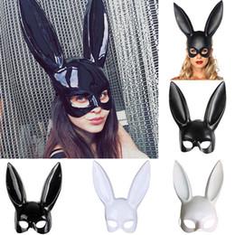 14a639abc 4styles Festa de Halloween Orelhas de Coelho Máscara Masquerade Sexy Bunny  Máscaras Traje Cosplay Preto Branco Carnaval Decoração de Halloween FFA745  500 ...