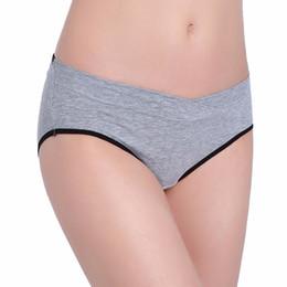95e7d151542 Women Cotton Maternity Underwear U-Shaped Low Waist Pregnancy Briefs For Pregnant  Panties Clothes 9608