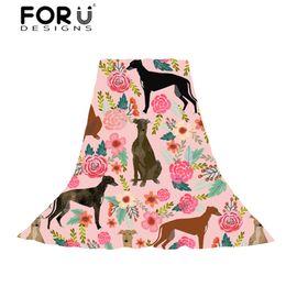 $enCountryForm.capitalKeyWord NZ - FORUDESIGNS Women Long Scarf Towel Ladies GreyHounds Cute Dog Rescue Puppy Beach Stoles for Females Kawaii Accessories Scarves