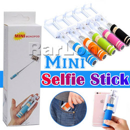 Discount selfie stick iphone plus - NEW Mini Foldable Selfie Stick Handheld Extendable For Samsung Galaxy S7 S6 S7 Edge Iphone 7 Plus Monopod Mini Self-Pole