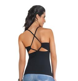 $enCountryForm.capitalKeyWord UK - 2017 Fall basic black sexy open back sleeveless backless strappy cross women running vest Tank tops tee Tshirt garment wholesale