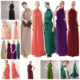 army dress code 2020 - European Bohemian hanging neck skirt long skirt beach skirt dress support mixed batch Polychromatic code, spot supply!