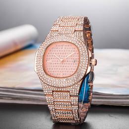 Glasses Trade Australia - Foreign Trade Hot Sale Men's Quartz Watch High Quality Luxury Fashion Diamond Date Quartz Wacth Men Sport Wristwatches 45_03
