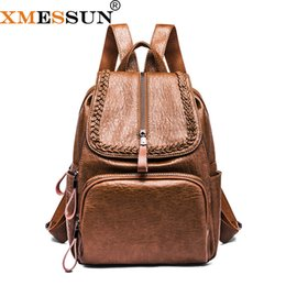 2d9a80ab828b XMESSUN женщины рюкзак повседневная большая емкость школа рюкзак опрятный  стиль Сумка дорожная сумка Ipad Poacket вязание