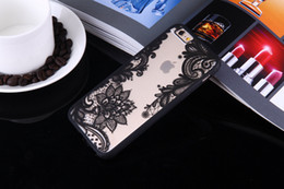 lace iphone 5s cases UK - Luxury Lace Phone Cases Datura Paisley Mandala Flowers TPU Cover Case For iPhone X 7 7 Plus 6 6s Plus 5 5s