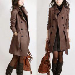 $enCountryForm.capitalKeyWord Canada - Korean Women Trench Woolen Coat Winter Slim Double Breasted Overcoat Warm Coats Women Long Oversize Outerwear