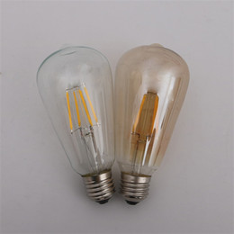 Vintage tungsten bulb online shopping - Retro LED Vintage Tungsten Filament Lamp W W W Dimmable Tan Bulb Lighting Party Decoration Supplies bs bb