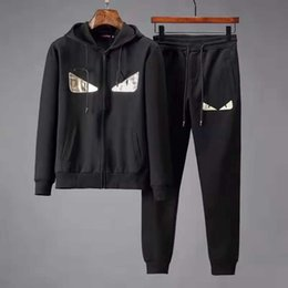 $enCountryForm.capitalKeyWord NZ - Classic couple suit designer jacket casual sweatshirt letter print pattern men's running clothes sportswear men free shipping