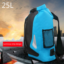 swimming rafting bag outdoor waterproof Canada - 25L Waterproof Bag Storage Dry Sack Rafting Bags Outdoors PVC Portable Equipment Bag Water Proof Backpack Kayak Mochila Estanca C18111901