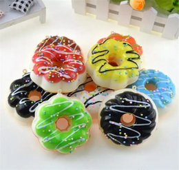 Kitty charms online shopping - Jumbo Hello Kitty Donut Slow Rising Squishy Charm Kawaii Squishies Cream Scented Decompression Anxiety Toy