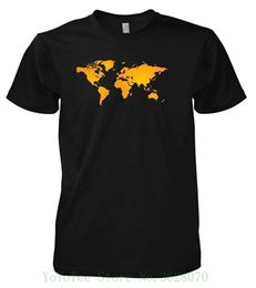 Cotton World Map Australia - Geek World Map 702295 T-shirt Loose Cotton T-shirts For Men Cool Tops T Shirts