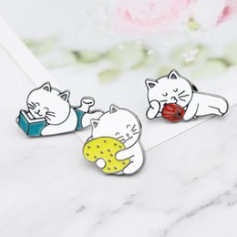 Lapel Pins Metal Badges Fashion Jewelry Cartoon Animal Enamel Pin Button Corsage Cat Brooches Funny Bag Decor Arts,crafts & Sewing Home & Garden