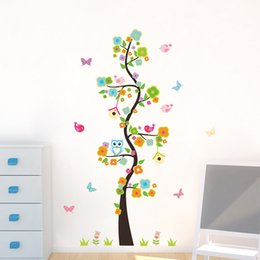 shop owls tree flower wall stickers uk owls tree flower wall