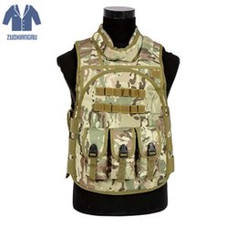 army combat vest 2019 - Zuoxiangru Hot Sales Army Adjustable Vest Stylish Male Tactical Vest Field Nylon Wargame Cs Field Wearable Combat Jacket