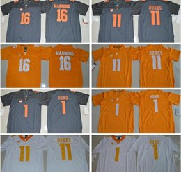 b1bbaff0c0a ... czech men youth jalen hurd 1 joshua dobbs 11 16 orange gray white  stitched tennessee ncaa