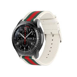 SamSung gear S3 watch online shopping - Nylon And Leather Watch Band Strap For Samsung Gear S3 Classic Smart Watch New Sport Casual Buckle Clasp Belt