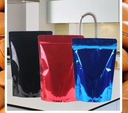 Stand up zip poucheS online shopping - Colored Zipper Stand Up Pouch Bag two side colored Aluminum Foil Heat Sealable Zip Lock bag