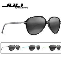 ea8e114254c Unbreakable Sunglasses Canada - JULI Polarized Pilot Fashion Sunglasses Men  Women Tr90 Metal Unbreakable Frame for