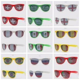 sunglasses bars NZ - 2018 World Cup Football Festival Fans Sunglasses For National Flag Bar Party Fans Sunglasses Athletic & Outdoor Eyewear