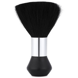 barber hair duster NZ - Ovonni Professional Face Duster Brushes Soft Black Neck Barber Hair Clean Hairbrush Salon Cutting Hairdressing Styling Makeup