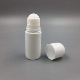 DeoDorant bottles wholesale online shopping - 50ml Plastic Roll On Bottles White Empty Roller Bottle cc Rol on Ball Bottle Deodorant Perfume Lotion Light Container