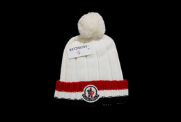 $enCountryForm.capitalKeyWord NZ - Pompoms Fur Knitted Winter Hats For Women Pompoms Beanies Thick Winter Hats Natural Rabbit Fur Female Beanies Caps Warm Hat