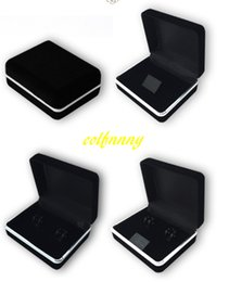 cufflink packaging 2019 - 100pcs lot Black Flocking cufflink Box Velvet Show Cases Jewelry Show Box For Gift Jewelry packaging boxes 5 styles chea