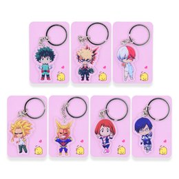 7 Styles My Hero Academia Keychain Double Sided Chibi Cartoon Keyrings Cute Anime Acrylic Key Chians Accessories PCB111 117