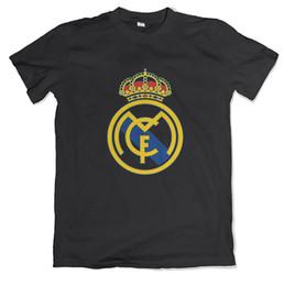 Camisas de manga curta inteligente zona Real Madrid camisa Madrid CF logotipo dos homens t-shirt venda quente homens camiseta moda em Promoção