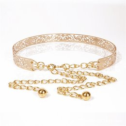 Chains For Mirrors Australia - New female Full Metal Mirror thin Waist Belt Women Metallic Gold Plate With Chains Lady Punk Rocky waistband for women BL26