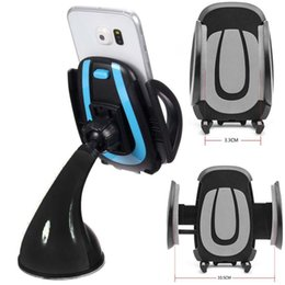 car accessories gps holders 2019 - New Car Phone Holder Gps Accessories Suction Cup Auto Dashboard Windshield Mobile Cell Phone Black&Blue Retractable Moun