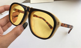 Large sungLasses fashion online shopping - 0087 Luxury Sunglasses SK Large Frame Elegant Special Designer With Rivets Frame Built In Circular Lens Top Quality Come With Case