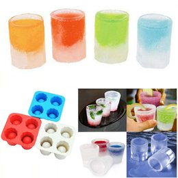 $enCountryForm.capitalKeyWord NZ - 4-Cup Ice Cube Shot Shape Silicone Shooters Glass Freeze Molds Maker Tray Party Bar Tools Ice Shot Glass Mold