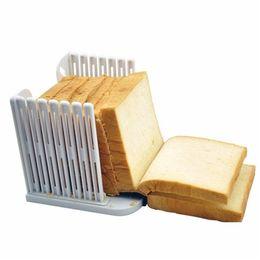 Loaf sLicer online shopping - For Kitchen Plastic Bread Slicer Baking Tools Kitchen Gadget Assemble Type Toast Loaf Sandwich Cutter Mold Kitchen Tools