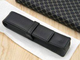 High Quality Business pu Black Pen bag Suit For A Pen For NEW Gift office Free Shipping on Sale