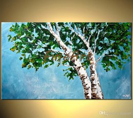 $enCountryForm.capitalKeyWord Australia - hand painted tree oil painting contemporary art palette knife oil painting textured canvas abstract modern office wall décor big canvas art