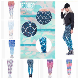 Discount yoga pants designs - 13 design Women Leggings Yoga Pants Mandala Flower 3D Printing Mermaid Slim Finess Running Workout Sports Legging Tights