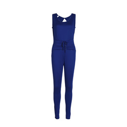 China Trendy Women clothes Ladies Summer Bodycon Party Jumpsuit round neck sleeveless Polyester Romper one pieces supplier one piece ladies clothes suppliers