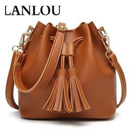 Korean bag bucKle online shopping - New women s casual handbag Korean version of the tassel bag wild Messenger magnetic buckle shoulder bag