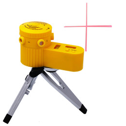 Plastic Tripod UK - Plastic Multifunction cross Line Tool Device LED Laser Level Vertical Horizontal 60 equipment measuring With Tripod 31% off