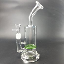 Honeycomb Filter Bongs Australia - Glass classic design honeycomb and cage filter 5 mm thick glass pipe 18 mm bowl beaker hookah glass bong .