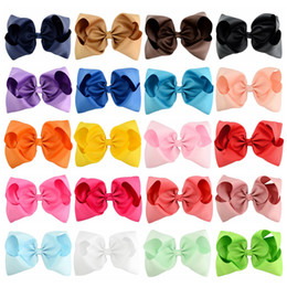$enCountryForm.capitalKeyWord NZ - 20pcs Lot 8 Extra Large Bows With Alligator Clips For Girls Children Headwear Hair Accessories Boutique Ribbon Bow Clip