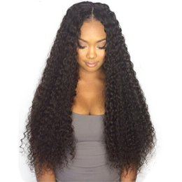 $enCountryForm.capitalKeyWord UK - 2018 10a grade supplier best 100% unprocessed remy virgin human hair natural color long afro curly full lace wig for women