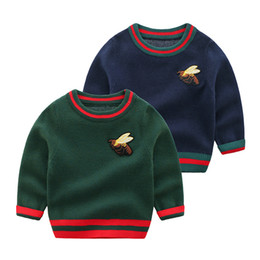 baby boy winter jumpers Australia - Newborn Baby Boy Winter Clothes knit Sweaters Spring Autumn Tops Kids Pullover Long Sleeves Toddler Boy Jumper Sweater Kids Infant Clothing