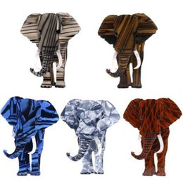 Jack Gifts Australia - Fant&Jack Fashion Animal Elephant Brooches for women men resin Acrylic Acetate celluloid Brooches High-end gifts