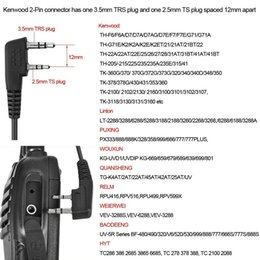 Uv 5r Mic Australia - Abbree PTT Mic Air Acoustic Tube Earpiece Walkie Talkie Headset For Kenwood Baofeng UV-5R UV-82 TYT MD-380 Wouxun KG-UVD1P Ect